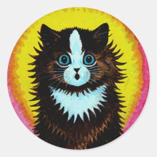 Louis Wain Psychedelic Cat Sticker