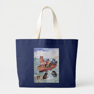 Louis Wain s Swimming Cats Canvas Bag