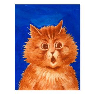 Louis Wain Surprised Orange Cat Post Card