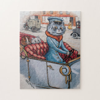 Louis Wain - The Cat Chauffeur - Anthropomorphism Jigsaw Puzzle