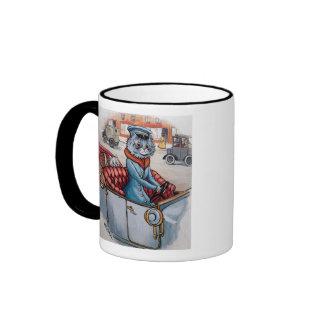Louis Wain - The Cat Chauffeur Ringer Mug