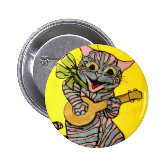 Louis Wain Ukulele Cat Artwork 6 Cm Round