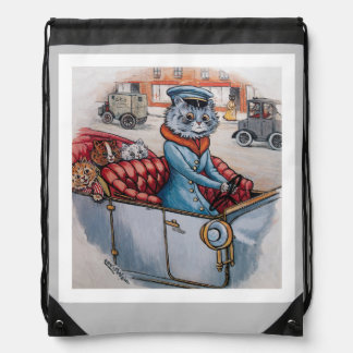 Louis Wain - Victorian Cat and Kittens Drawstring Bag