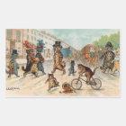 Louis Wain - Victorian Town Cats Rectangular Sticker