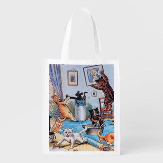 Louis Wain's Cat Catastrophe Reusable Grocery Bag