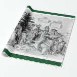 Louis Wain's Cats' Christmas Party - Vintage Wrap Gift Wrap Paper