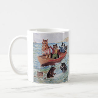Louis Wain's Swimming Cats Classic White Coffee Mug