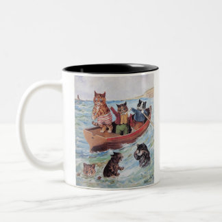 Louis Wain's Swimming Cats Two-Tone Coffee Mug