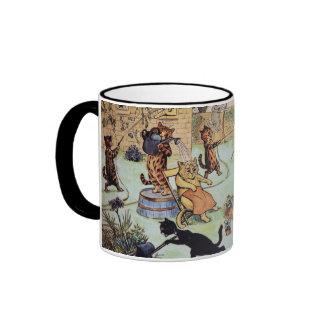Louis Wan - Cat Gardeners Ringer Coffee Mug