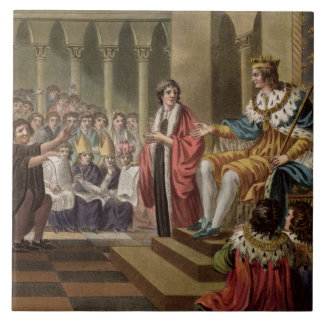 Louis XII (1462-1515) Declared Father of the Peopl Tile