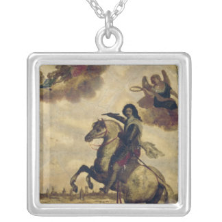 Louis XIII  at the Siege of La Rochelle Silver Plated Necklace
