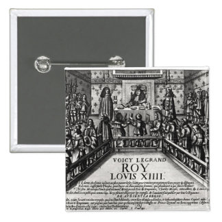 Louis XIV  administering justice 15 Cm Square Badge