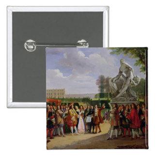 Louis XIV  Dedicating Puget's 'Milo of Pinback Button