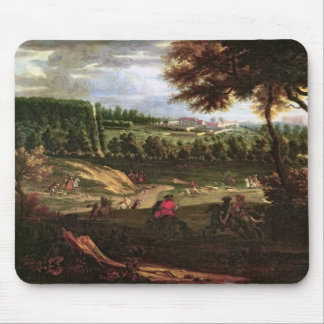 Louis XIV  Hunting at Marly with a View Mouse Mat