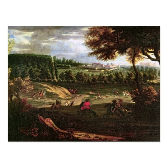 Louis XIV Hunting at Marly with a View