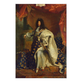 Louis XIV in Royal Costume, 1701 Poster