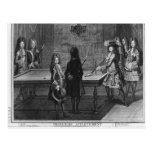 Louis XIV playing billiards with his brother Post Card