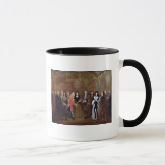 Louis XIV  welcomes the Elector of Saxony Mug