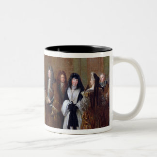 Louis XIV  welcomes the Elector of Saxony Two-Tone Coffee Mug