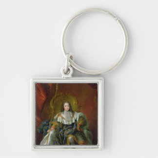 Louis XV  1723 Silver-Colored Square Key Ring
