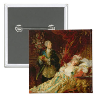 Louis XV and Madame Dubarry 15 Cm Square Badge