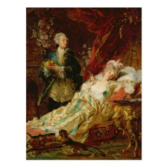 Louis XV and Madame Dubarry Postcard