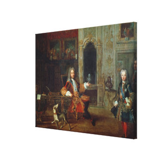 Louis XV  and the Regent, Philippe II Canvas Print