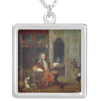 Louis XV  and the Regent, Philippe II Silver Plated Necklace