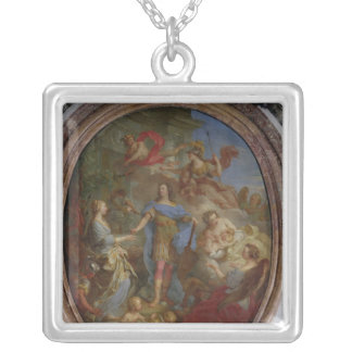 Louis XV  Giving Peace to Europe, 1729 Silver Plated Necklace