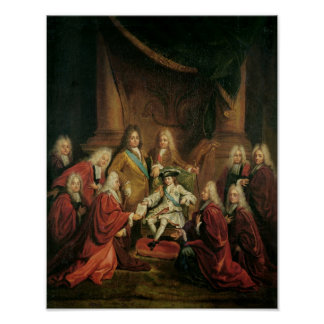 Louis XV  Granting Patents of Nobility Poster