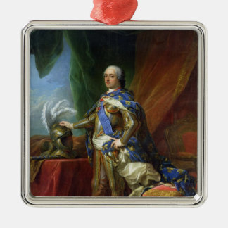 Louis XV  King of France & Navarre, 1750 Silver-Colored Square Decoration