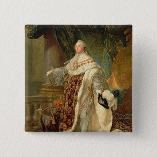 Louis XVI (1754-93) (oil on canvas) 15 Cm Square Badge
