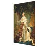 Louis XVI (1754-93) (oil on canvas) Canvas Print
