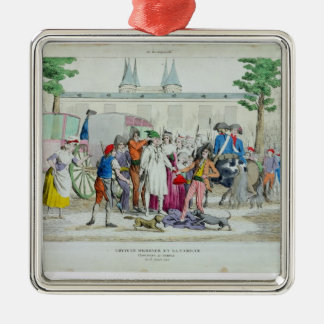 Louis XVI  and his family taken to the Temple Christmas Ornament