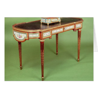 Louis XVI bureau plat with pale tulipwood veneer Card