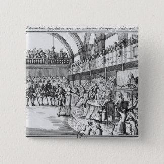 Louis XVI  declaring war on the 20th April 1792 15 Cm Square Badge