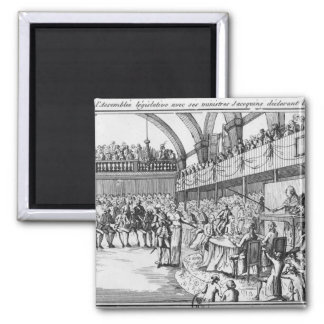 Louis XVI  declaring war on the 20th April 1792 Magnet