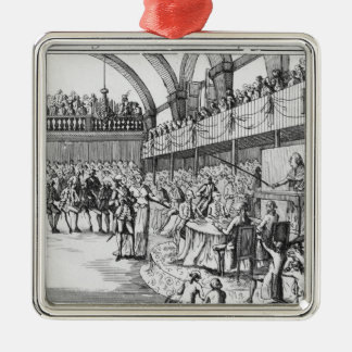 Louis XVI  declaring war on the 20th April 1792 Silver-Colored Square Decoration
