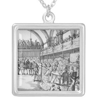 Louis XVI  declaring war on the 20th April 1792 Silver Plated Necklace