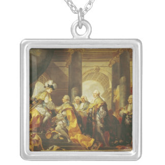 Louis XVI  King of France Silver Plated Necklace