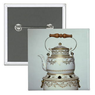 Louis XVI porcelain kettle and stand made in 15 Cm Square Badge