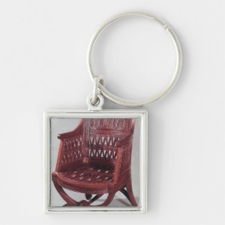 Louis XVI style armchair Silver-Colored Square Key Ring