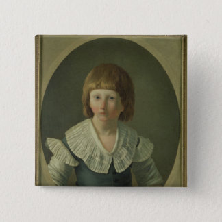 Louis XVII  aged 8, at the Temple, 1793 15 Cm Square Badge