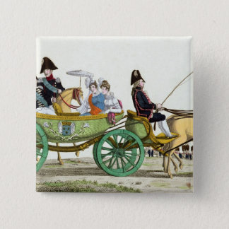 Louis XVIII  and his Family 15 Cm Square Badge