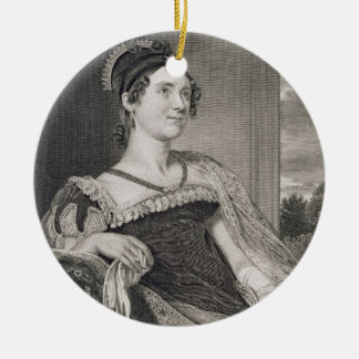 Louisa Catherine Adams (1775-1852) engraved by G.F Christmas Ornament