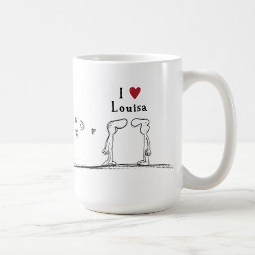 """Louisa """"I love Louisa"""" """"i heart Louisa"""" Coffee Mugs"""