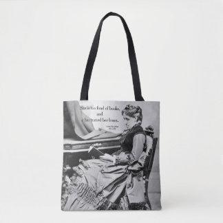 Louisa May Alcott fond of books photograph Tote Bag