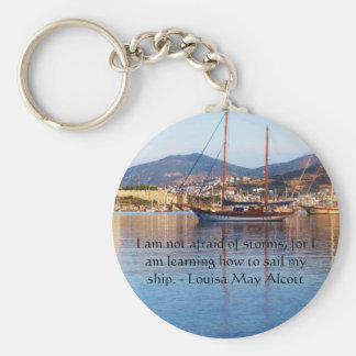 Louisa May Alcott inspirational QUOTE Basic Round Button Key Ring