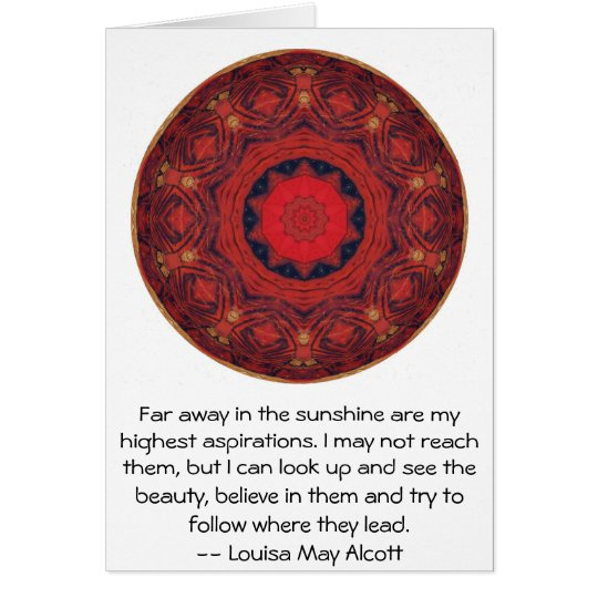 Louisa May Alcott INSPIRATIONAL QUOTE Greeting Card