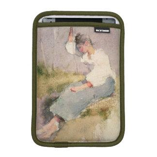 Louise, a Breton Girl (w/c on paper) Sleeve For iPad Mini